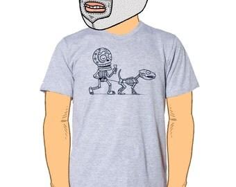 Dog Walker Calavera Men's T-Shirt Small, Medium, Large, XL in 7 Colors