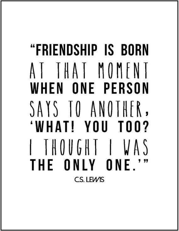 Cs Lewis Quote About Friendship Unique Items Similar To C.slewis Friendship Literary Quote Typography