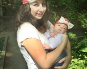 Sewing Pattern Knit Bow Turban for babies 3 month - ladies size beanie PDF Instant