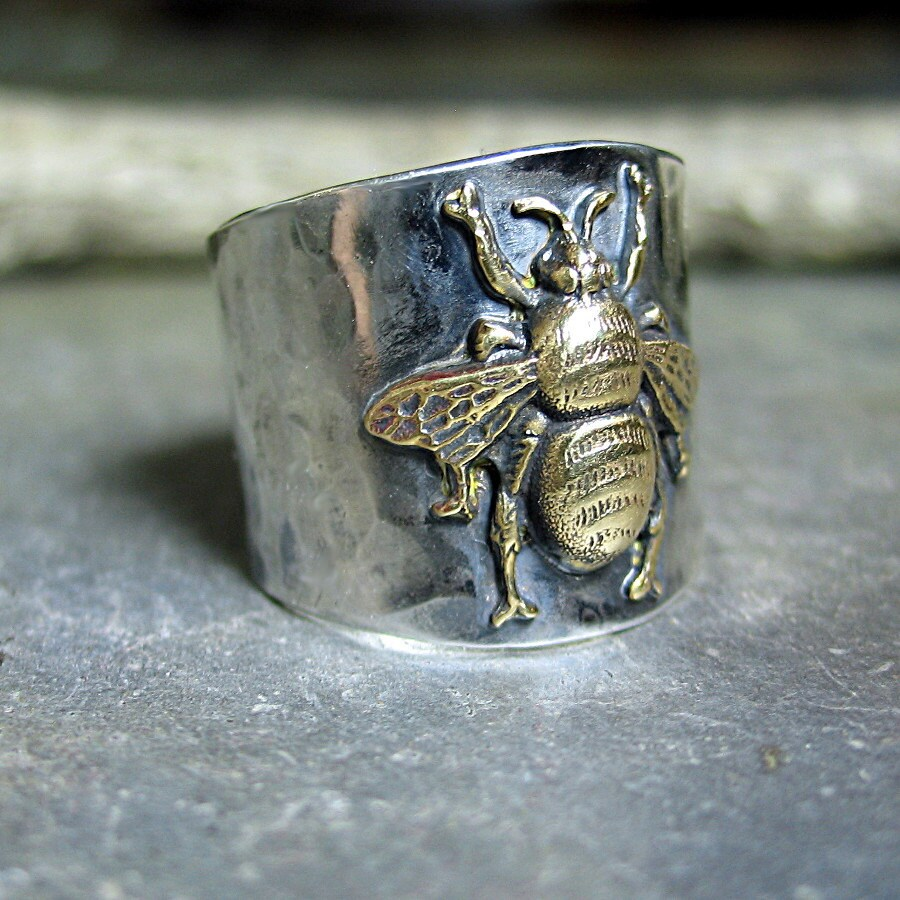 Bee Ring Bumblebee Honeybee Insect Sterling Silver Wide Band. Wedding Ring And Band. Anniversary Pendant. Hand Engagement Rings. Floating Charm Lockets. Pink Purple Gemstone. Sunstone Pendant. Hook Pendant. 2 Carat Diamond Ring With Diamond Band