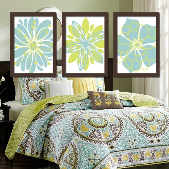 Wall Decor Green : Green blue wall art bedroom pictures canvas or prints by