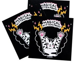 Magical Kitten Paws Art Print 5 x 5