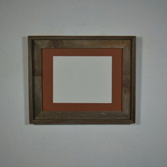 11x14 Repurposed Wood Photo Frame With Mat By Barnwood4u