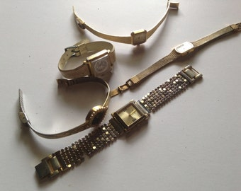 Vintage Steampunk Supplies Lot of Five (5) Vintage Watches for Repurposing