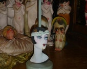 Smoking Flapper Hat Stand Vintage Style Bobbed Hair