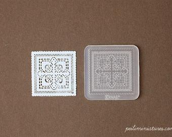 Doily Lace Mold - Square Mold - Silicone Lace Mold - 3.5cm