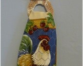Kitchen Towel with Removable Cotton Towel Holder Chicken