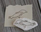 Sea Lions Rubber Stamp // Handmade Item