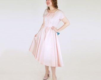 50s Pink Party Dress with Tags by Jonathan Logan S