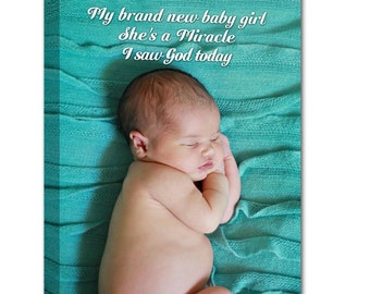 Personalized Photo Gift Childs photo canvas sayings quotes Custom Art Words on Canvas 14x14 Geezees  Custom Canvas Artwork