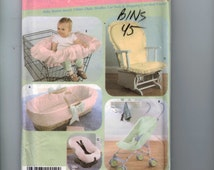 Craft Sewing Pattern Simplicity 4636 baby Accessories Shopping Cart Cover Bassinette Cover Rocking Chair Stroller UNCUT  99