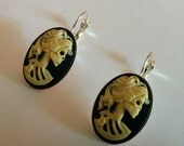 Classy Skeleton Cameo Earrings