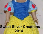 18 inch American Girl Crochet Pattern - Snow White
