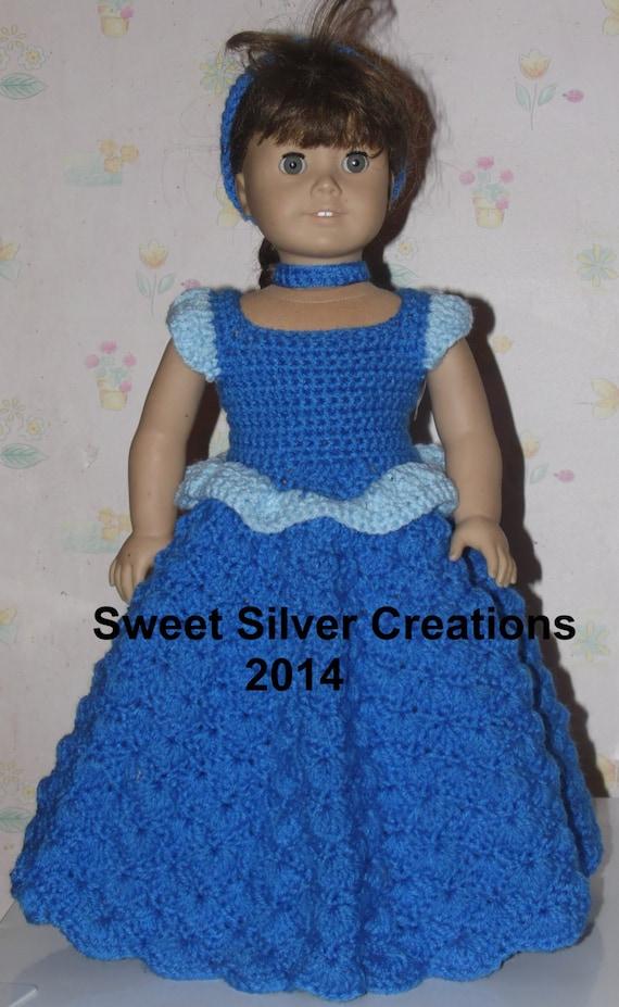 Crochet Dress Up Doll Pattern : 18 inch American Girl Crochet Pattern Cinderella