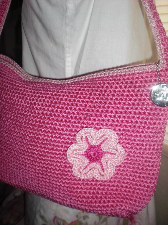 Sak Purses Crochet : The Sak Hot Pink Crocheted Purse with Free by twosisterscottage