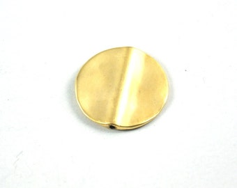 2pcs- Matte Gold Plated  Smooth Circle spacer, charm, bead-26mm-(010-041GP)