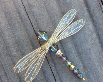 Dragonfly Pin - Birthstones & 28 More Swarovski Colors