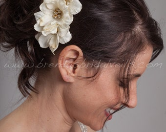 Ivory Silk Bridal Flower Hair Comb, Wedding Flower - Delaney
