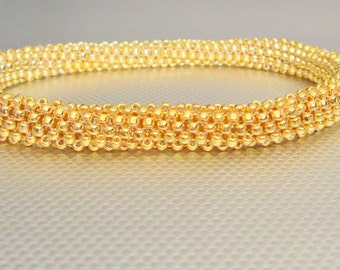 gold beaded bracelet gold bracelet gold bead bracelet gold seed bead bead bangle gold classic bracelet