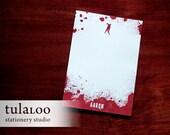 Bloody Zombie Personalized Notepad - walking dead