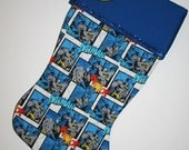 Personalized, Christmas Stocking, Batman Stocking, Quilted Stocking, Stocking, Batman, Ready to Ship
