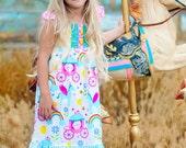unicorn party dress - rainbow dress - princess dress