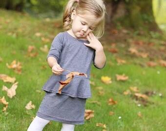 Peplum Dress & Top PDF Pattern for Knit Fabric - 10 Sizes!