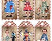 Primitive Raggedy Anne 2 Printable Tags Digital Download Image 1062