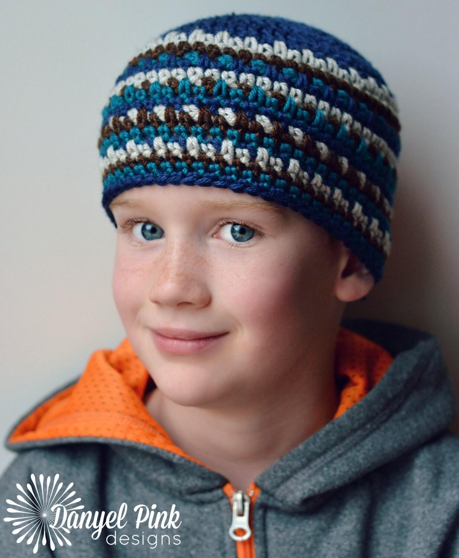 Sam Hat CROCHET PATTERN striped earflap or beanie