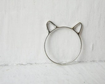Cat Ears Ring Cat Ring Sterling Silver