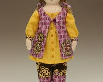 Amandine, 15-16 inch cloth doll E-PATTERN
