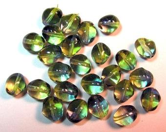 Bohemian Czech Glass Bicolor Beads