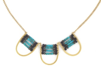 Turquoise Floating World Necklace