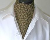 Day Cravat, Cotton Paisley, Mans Ascot,