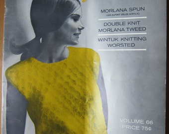 Vintage Sweater Patterns, 14 Different 1960s Women's Elegant Sweaters to Knit in Jack Frost Quick Knits, Volume 66, 1965