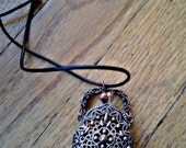 Copper Purse and Leather Necklace