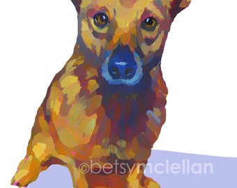 Digital Pet Portrait - Digital Illustration - Giclee Print