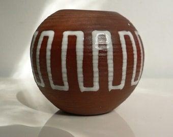 Vintage 1950s danish modern ceramic vase/ Mid Century Modernist Art Pottery Vase