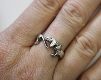 Dachshund Ring Wiener Dog Ring Sausage Dog Silver Ring 323