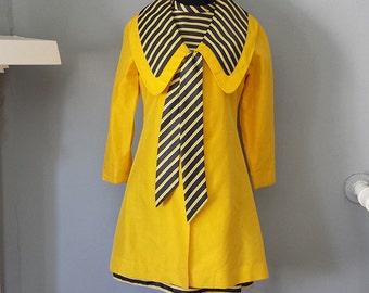 SALE 60s - Margeaux Couture Silk Jacket & Dress Set - M