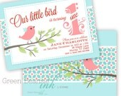 LITTLE BIRD Printable Birthday Party Invitation - Printing Available