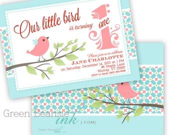 LITTLE BIRD Printable Birthday Party Invitation - Printing Available