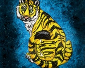Awesome Yellow Tiger Iron on Patch