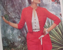 Vogue Knitting Book No. 44 Vintage Knitting Patterns 1950s Womens 50s original patterns crochet patterns