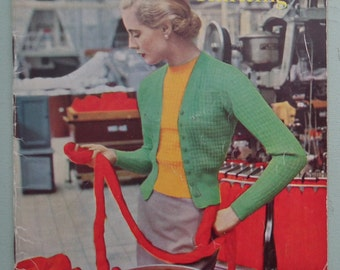 Classics in Knitting by Stitchcraft Vintage 1940s 1950s Knitting Booklet Women's Twin Sets Jumper Sweaters Dress 40s 50s original patterns