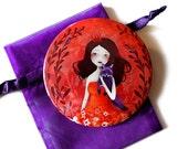 Purple Fox - Pocket Mirror