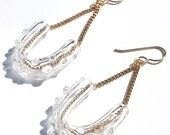 Glass U Dot Earrings