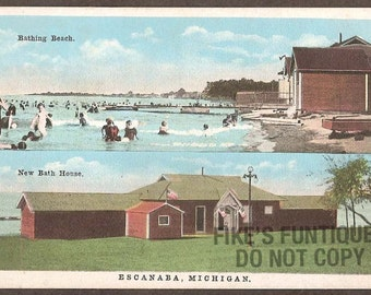 Popular items for escanaba michigan on etsy for Bath house michigan