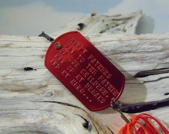 Personalized Father's Day Gift for Men Fishing Lure Wedding Gift Idea For Dad Embossed Gift My Dad My Hero For Gift Him Husband Father Dad