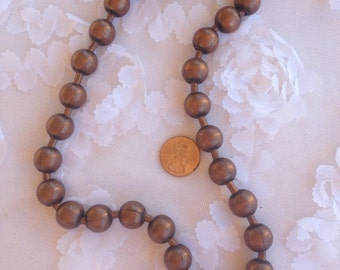 Medium Copper Ball Chain Necklace with Clasp